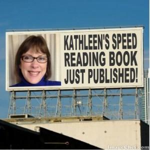 Billboard announcing book